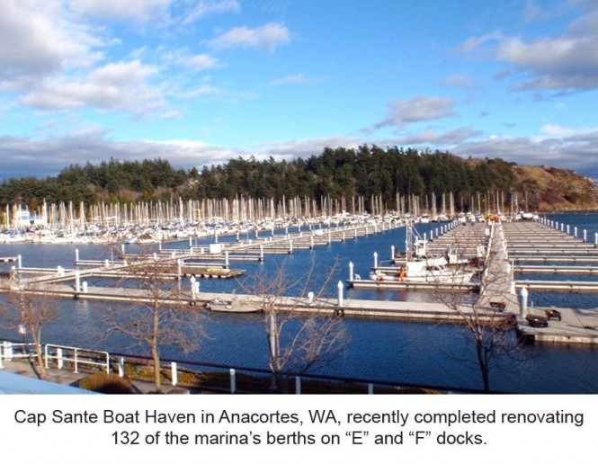 Cap Sante Boat Haven marina in Anacortes renovated by Bellingham Marine