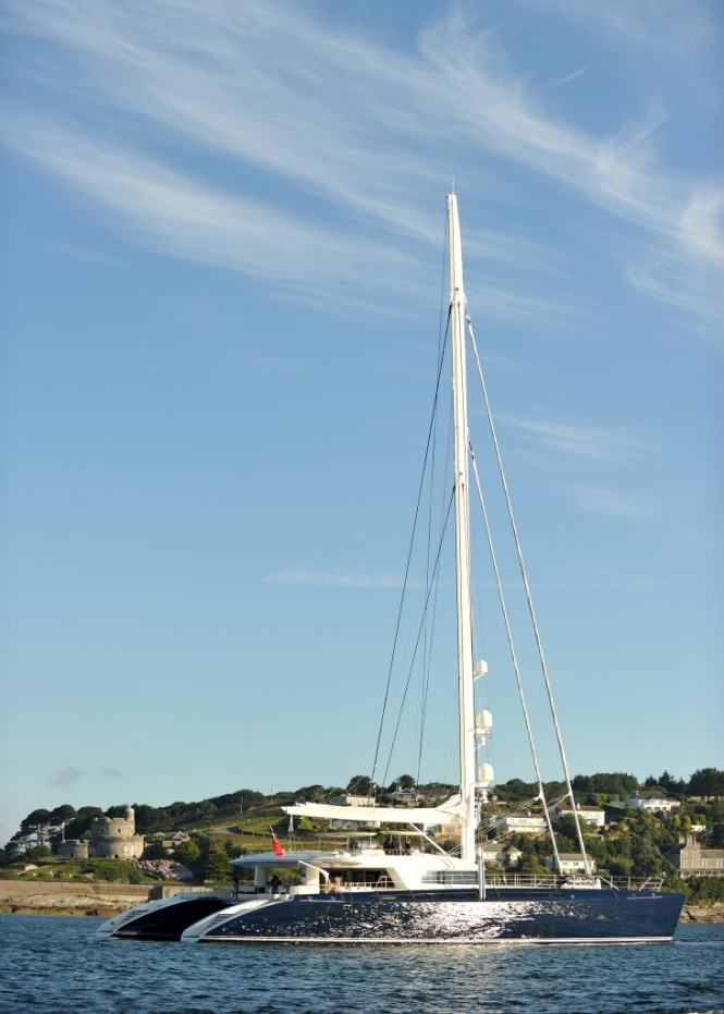 Catamaran Hemisphere at sea trials - Credit Pendennis