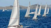 Charter boats race in the 2011 BVI Spring Regatta &amp; Sailing Festival - Sparkling sailing conditions Credit Todd VanSickle - BVI Spring Regatta&amp; Sailing Festival