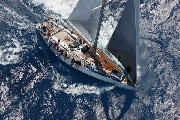Christian and Lucy Reynolds' Swan 51 yacht Northern Child. Photo Tim Wright