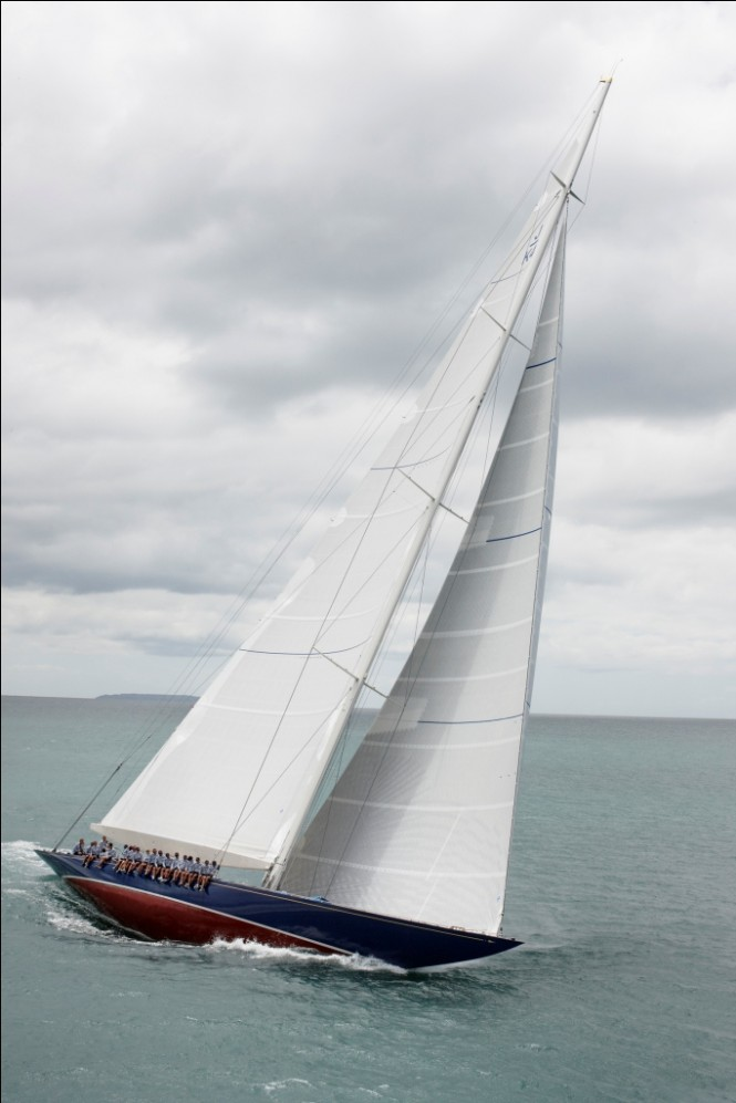 Classic sailing yacht Endeavour refitted by Yachitng Developments - during sea trials