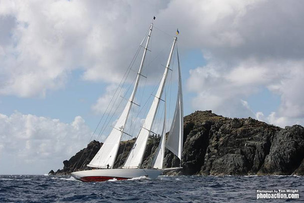 Dijkstra sailing yacht Adela Credit: Tim Wright/Photoaction