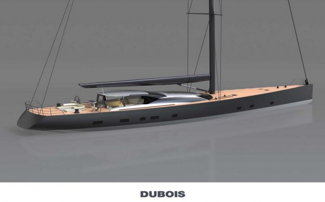 Dubois designed 46m sailing yacht Hull 3067 in build by Vitters