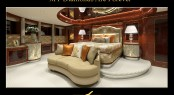 FB253 megayacht Diamonds Are Forever Master suite