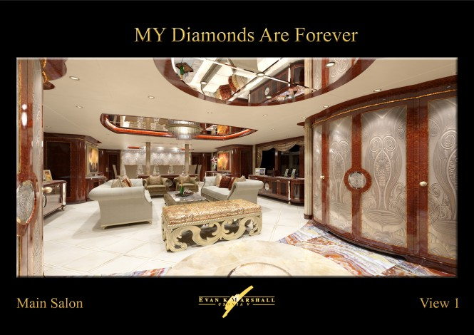 FB253 superyacht Diamonds Are Forever Main salon