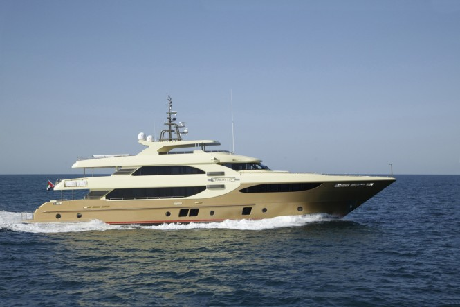 Built to order, the luxury yacht Majesty 135 is semi-customized with a focus ...