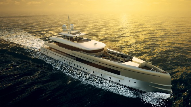 Heesen 50m motor yacht YN 16750 with FDHF by Van Oossanen Naval Architects Photo credit Omega Architects