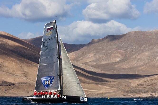 Heesen Yachts Sponsored Team Synergy at the 2012 RC44 Puerto Calero - Photo credit Carlo Borlenghi.jpg