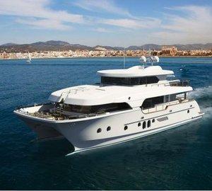 Horizon motor yacht AquaCat 80 making her debut in Australia at the 2012 Sanctuary Cove International Boat Show