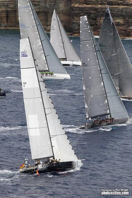 IRC Zero Start - Sailing yacht Gran Jotiti, Rán, Whisper, Rambler and Hassebas during the RORC Caribbean 600 -Photo Credit Tim Wright/Photoaction