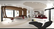 Initial concept for the Owner&#039;s cabin by Ken Freivokh - Heesen Motor Yacht Quinta Essentia