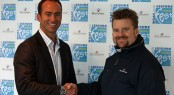 James BrookeFestival Director, seals the Cowes Fest deal with Cowes Yacht Haven�s Managing Director, Jon Pridham Photo by H. Thornycroft