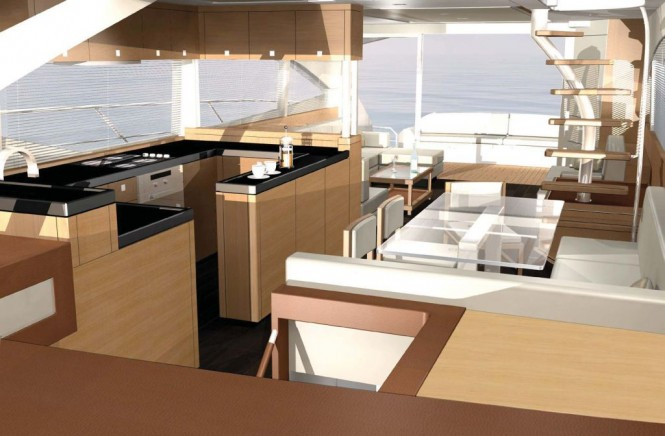 Johnson 65 motor yacht interior  from Dixon Yacht Design