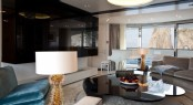 Luxury Superyacht Quinta Essentia - Upper Deck saloon with the baby grand piano in the background
