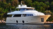 Luxury motor yacht LA PAUSA, a Custom Line Ferretti Navetta 26 available for Monaco Grand Prix charter with confirmed berth