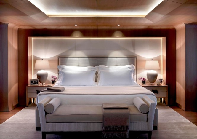 Luxury superyacht Numptia with interior design by Salvagni Architetti