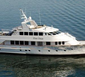 Christensen Shipyards refit the Custom 120' motor yacht First Draw (ex Cacique)