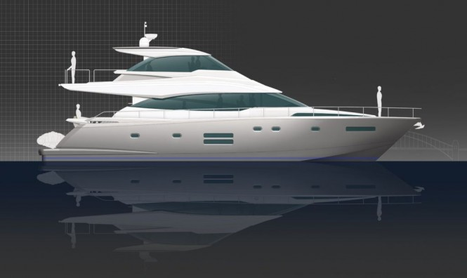 New Johnson 65 enclosed flybridge motor yacht from Dixon Yacht Design