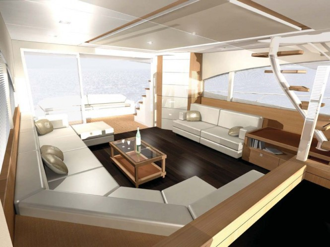 New Johnson 65 motor yacht interior from Dixon Yacht Design