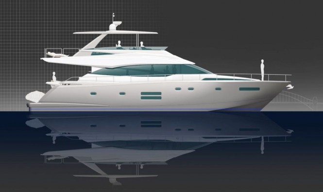 New Johnson 65 open flybridge motor yacht from Dixon Yacht Design