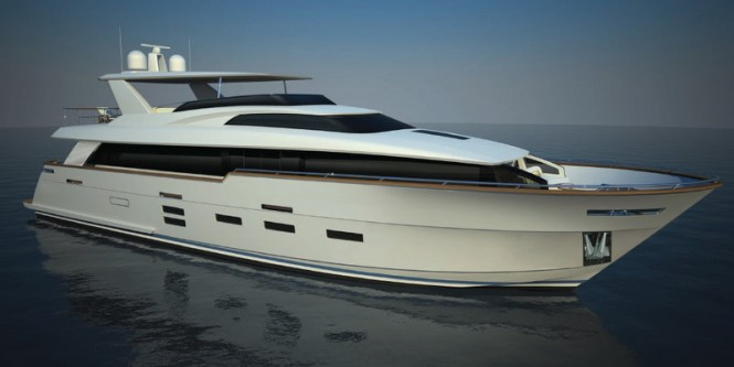 New motor yacht 95 Raised Pilothouse by Hatteras Yachts