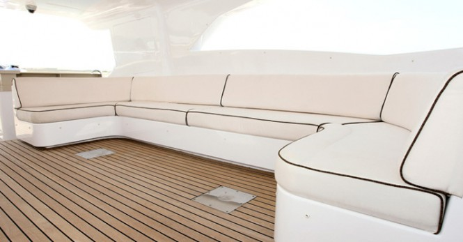 On board the luxury yacht Majesty 121