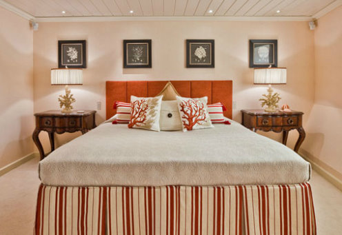 One of the lovely cabins on board the super yacht Polar Star by Lurssen