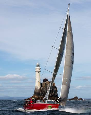 Oyster sailing yacht Scarlet Logic - Credit Rolex Daniel Forster
