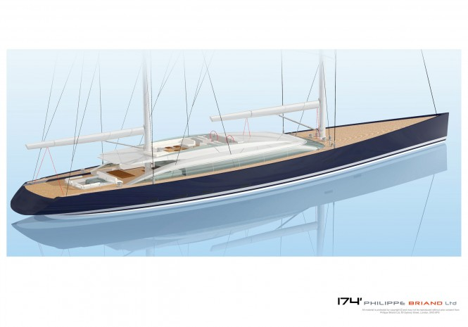 Phillipe Briand designed 174´ Flybridge Ketch Sailing Yacht