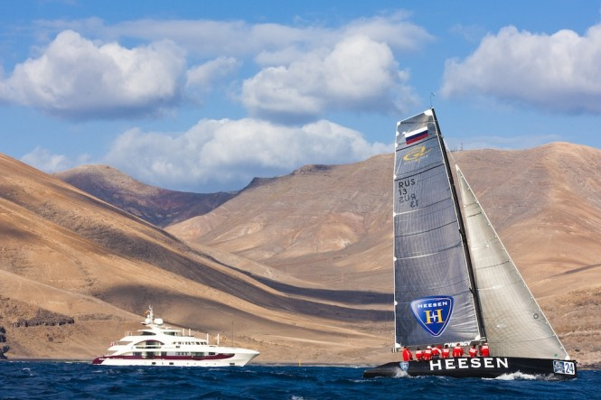 Quinta Essentia Yacht and Team Synergy at the RC44 in Puerto Calero - Photo credit Carlo Borlenghi