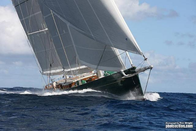 RORC Caribbean 600, 2012. Rán off St Martin on Tuesday 21st February. Credit: RORC Caribbean 600/Tim Wright/Photoaction