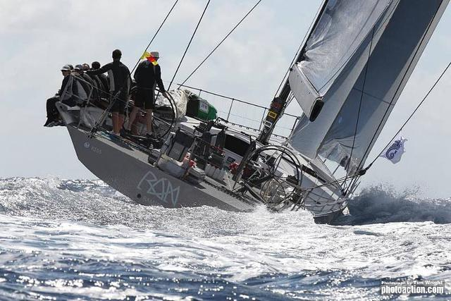 RORC Caribbean 600, 2012. Rán off St Martin on Tuesday 21st February - Credit: RORC Caribbean 600/Tim Wright/Photoaction