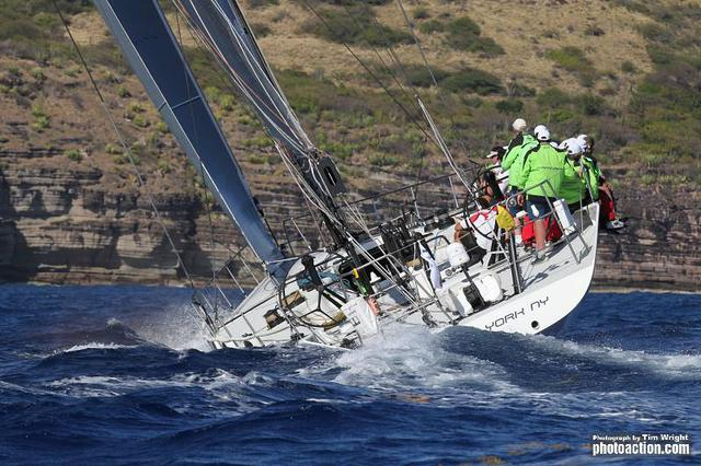 RORC Caribbean 600, 2012. Yacht Rambler finishes on Wednesday 22nd February - Credit Tim Wright/Photoaction