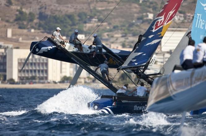 Extreme Sailing Series 2011 - Act 7 - Trapani - Red Bull Sailing Team Omar Air Credit Lloyd Images