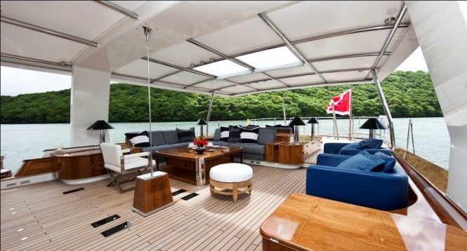 Deck of Pendennis Sailing yacht Akalam - Photo Credit Mark Lloyd