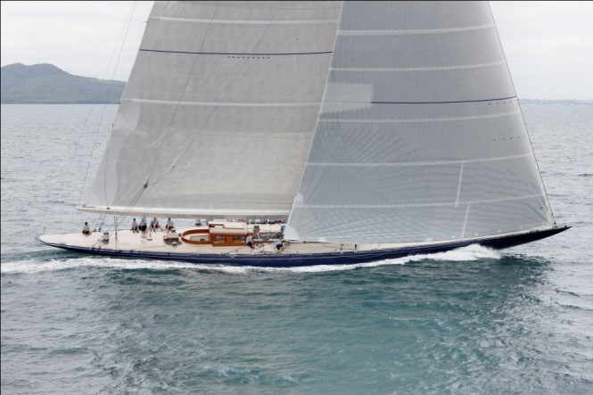 Sailing yacht Endeavour at Sea Trials in Auckland