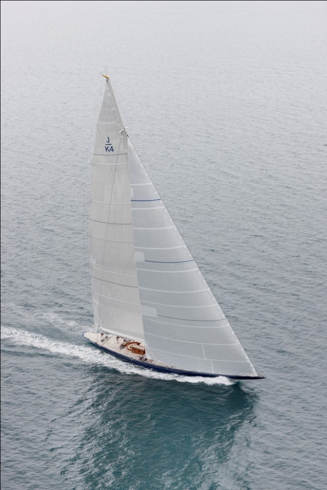 Sailing yacht Endeavour from above - Photo Credit Yachting Developments