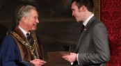 Sunseeker Yachts Apprentice receives Queens Medal by HRH Prince of Wales