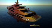 Super yacht Iwana with bathing platform and AQVWC SeaBird submarine