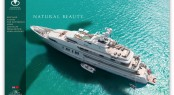 Super yacht RoMa seen in all her splendour under a Caribbean sun in Antigua