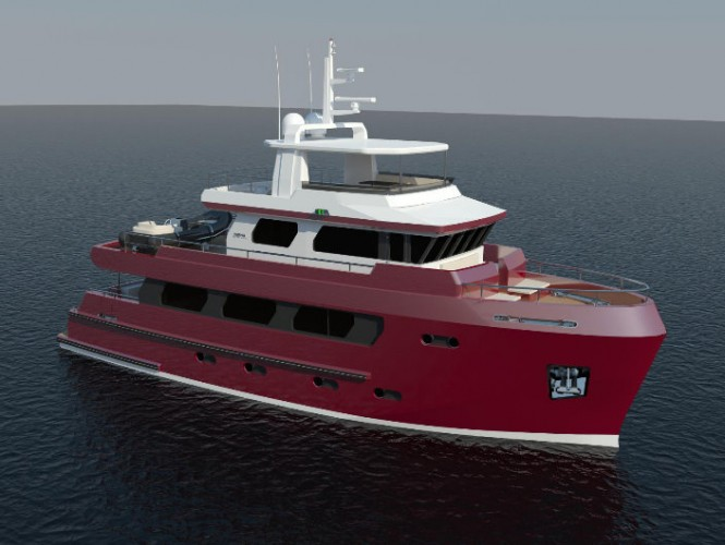 The 24m explorer motor yacht Bering 24