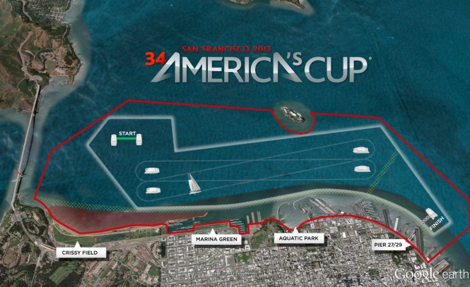 The 34th America´s Cup Race Course