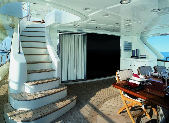The 35.5m Cinque Superyacht Cockpit