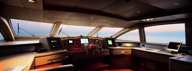 The 35.5m superyacht Cinque Wheelhouse