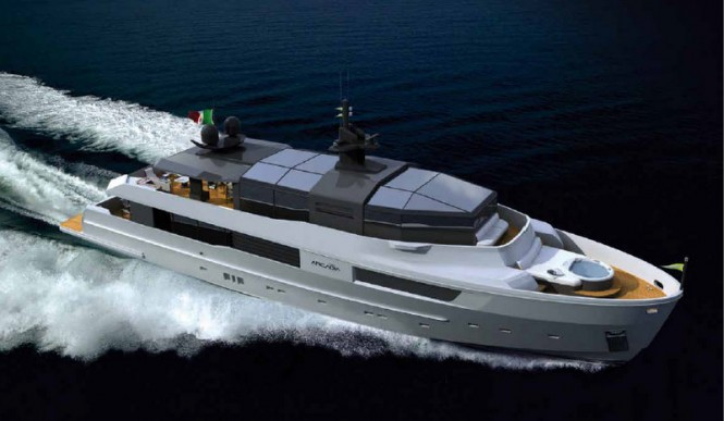 With the Arcadia 115 super yacht M´Ocean, Arcadia Yachts continues with the ...
