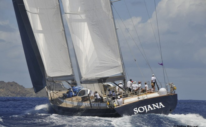 The 35m charter yacht Sojana at the Voiles de Saint Barth 2010 Photo Credit Didier Rouxel
