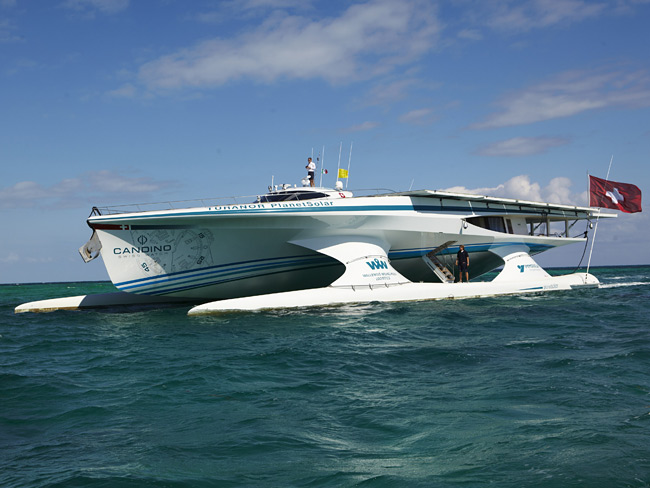 The 35m yacht PlanetSolar