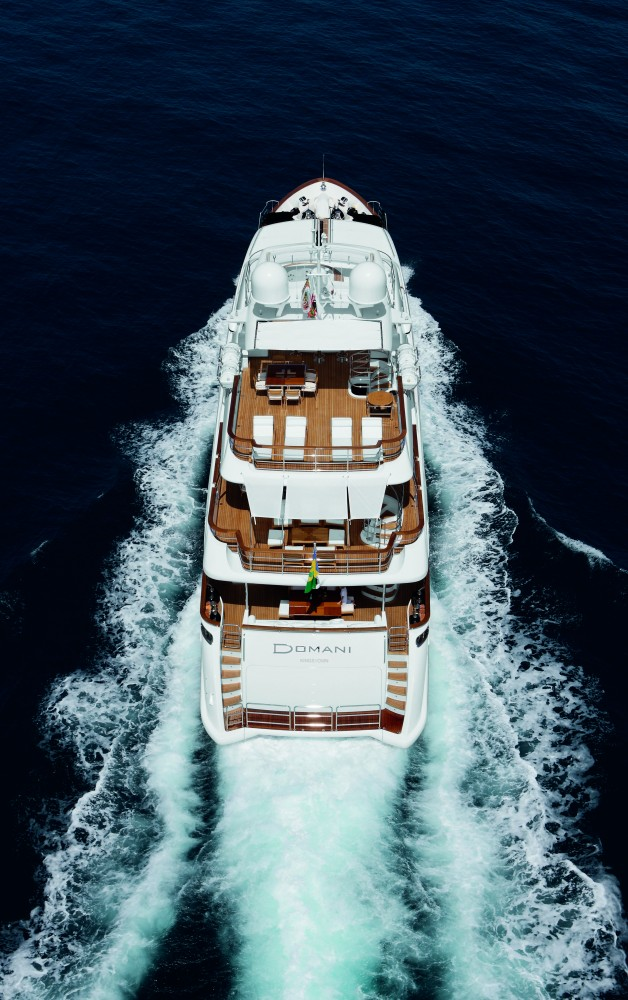 The 36.90m superyacht Domani - view from above