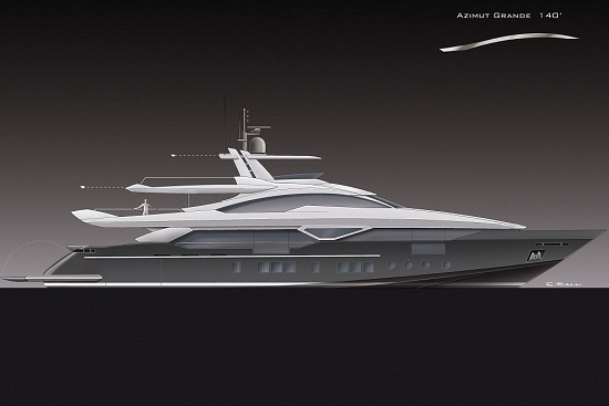 The 42m luxury motor yacht Azimut Grande 140