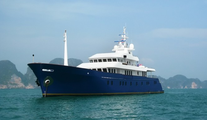 The 50m luxury yacht Northern Sun